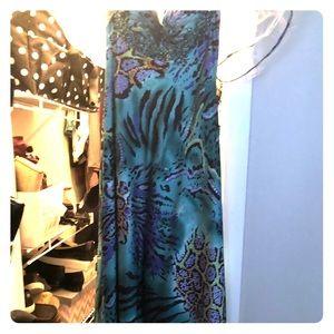 Zebra multi color long prom dress!
